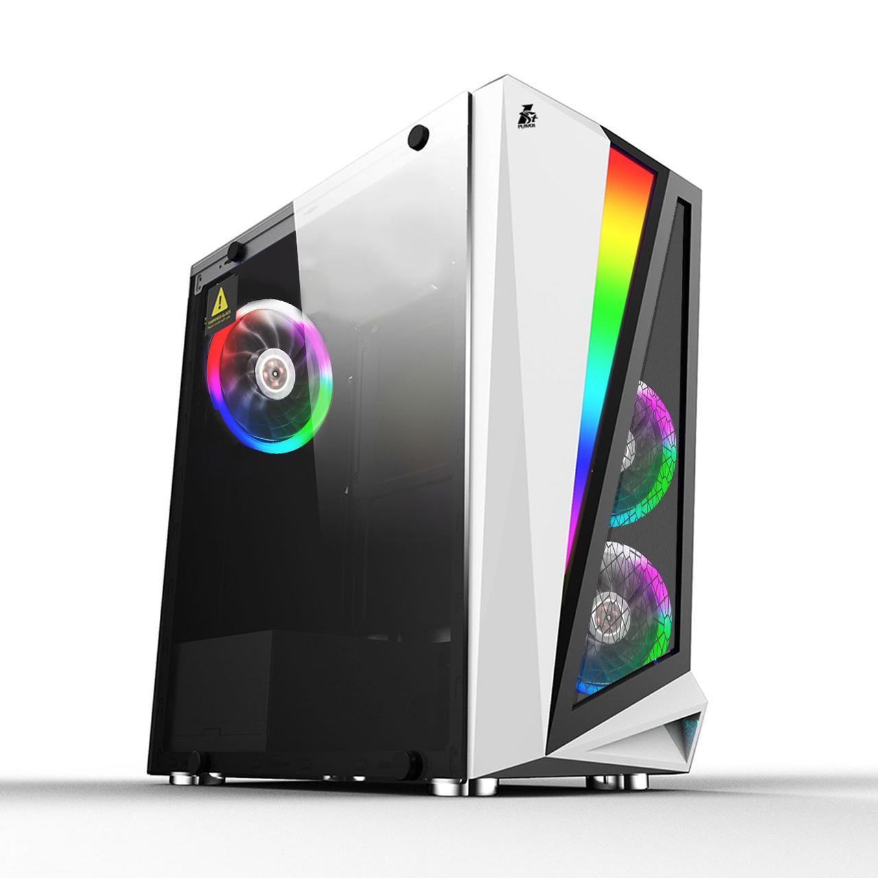 Корпус 1stPlayer R5-3R1-WH Color LED White без БП