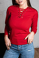 Кофта женская 315 (42 44 46 48) (черный,белый,хаки, красный,лаванда,беж,персик, голубой, светлый беж,бордо) СП, фото 1