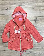 Демисезонная куртка на флисе. Капюшон съемный. 158- 164 рост.