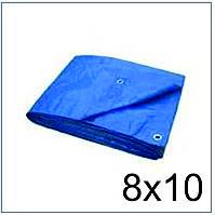 Тент Тарпаулин 8*10 синий 75 г/м2, размер 8х10 м.