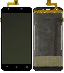 Дисплей для Bravis A551 Atlas с сенсорным стеклом (Черный) Оригинал Китай