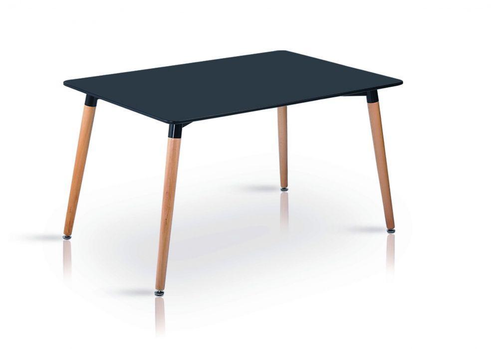 Обідній стіл Нурі чорний 120*80 см на букових ніжка від SDM Group
