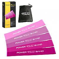 Гумка для фітнесу і спорту (стрічка-еспандер) 4FIZJO Mini Power Band 5 шт 1-20 кг 4FJ0186