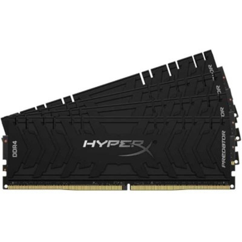 Модуль пам'яті DDR4 4x32GB/3600 Kingston HyperX Predator Black (HX436C18PB3K4/128)