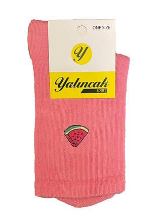 Високі спортивні шкарпетки з вишивкою кавун рожеві ( Yalinncak ), фото 2