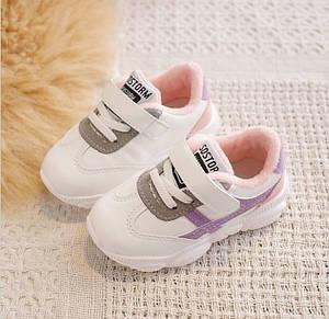 Детские кроссовки Sostorm 24 Белый с розовым (202176)