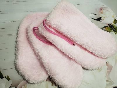 Набор варежки и носочки SkinLoveSpa для парафинотерапии 4 пары Розовый (643424)