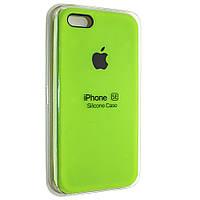"Чехол Silicon iPhone SE/5s/5 - ""Green gross №59"""