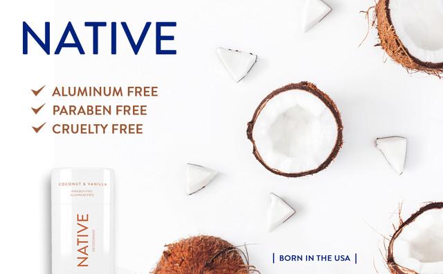 Native Natural Deodorant Coconut & Vanilla