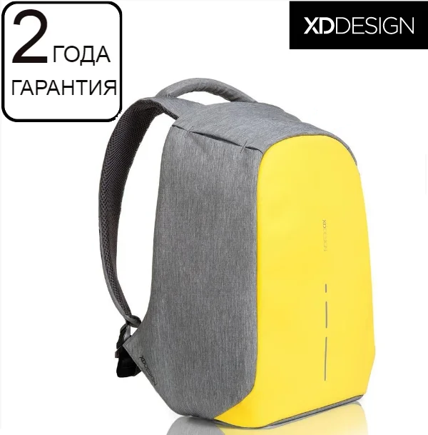 "Антикрадій рюкзак для ноутбука XD Design Bobby Compact Primrose Yellow 14"" (P705.536)"