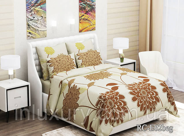 Комплект постельного белья (1.5сп) RC-E62beg, фото 2