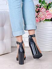 Туфли Bogemiya черная кожа 6393-28, фото 2