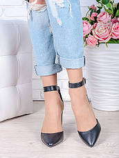 Туфли Bogemiya черная кожа 6393-28, фото 3
