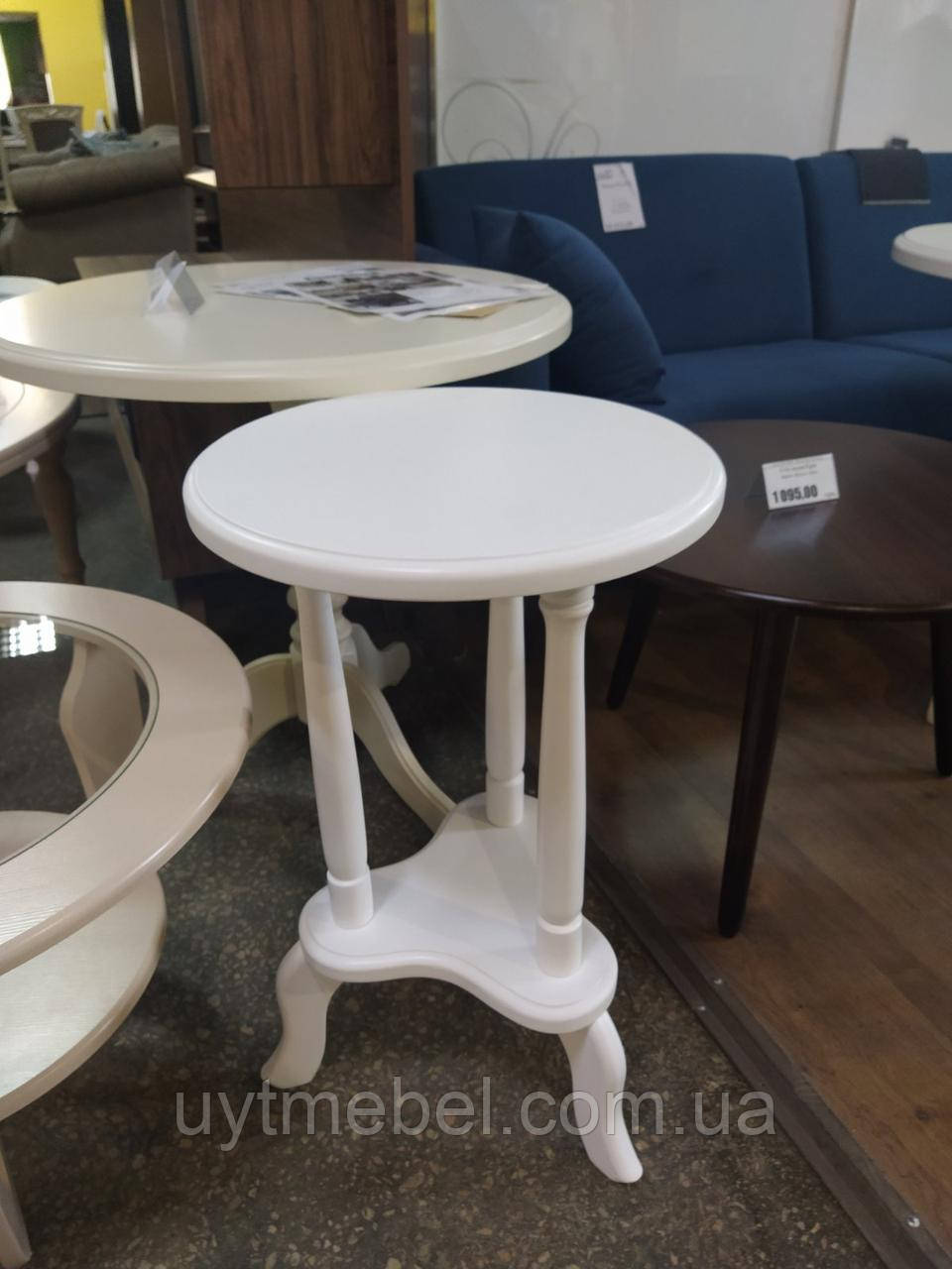 Стіл кавовий 400х400 білий (RoomerIN)