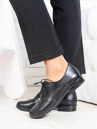 Oksford туфли черная кожа 6648-28, фото 2