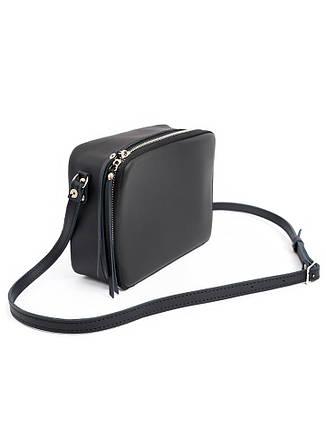 Клатч черный кожаный 6692-11, фото 2