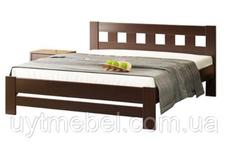 Ліжко Сакура 1600х2000 бук/горіх т. (Камелія)