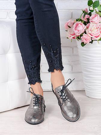 Туфли кожаные сатин (лето) Эвелин 7005-28, фото 2