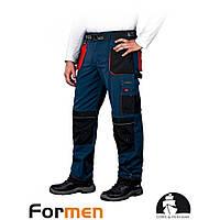 Рабочие брюки LH-FMN-T-GBC сине-красного цвета. LEBER HOLLMAN (размер 56)