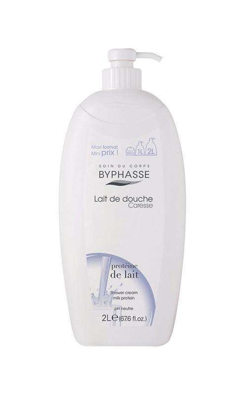 "Byphasse Caresse Shower Cream Крем для душа ""Молочный протеин"""