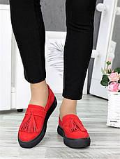 Туфли лоферы красная замша 7272-28, фото 2