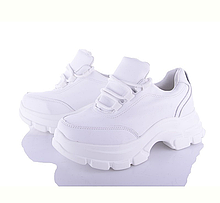 Белые женские кроссовки на толстой подошве, модные, мягкие