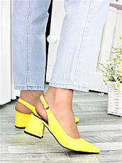 Туфли желтая кожа Molly 7408-28, фото 2