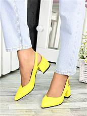 Туфли желтая кожа Molly 7408-28, фото 3