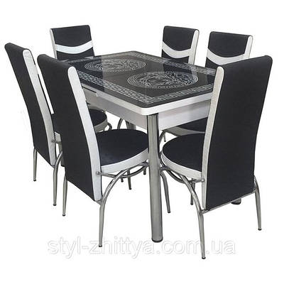Комплекти зі скла (6 стільців)