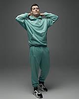 Теплий спортивний костюм оверсайз Гармата Вогонь Scale фісташка