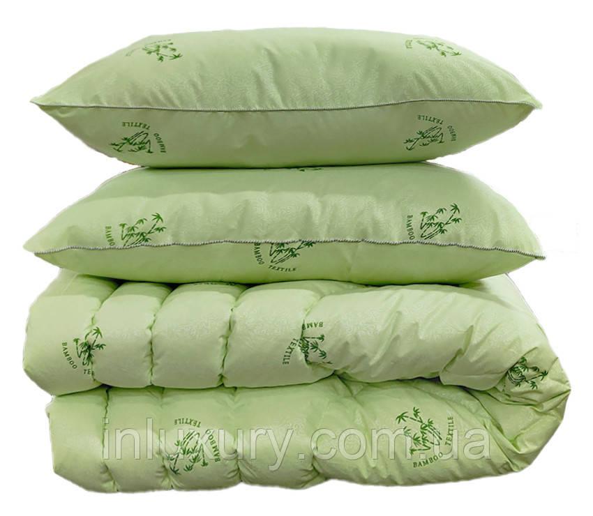 """Одеяло лебяжий пух """"Bamboo"""" 1.5-сп. + 2 подушки 70х70"""