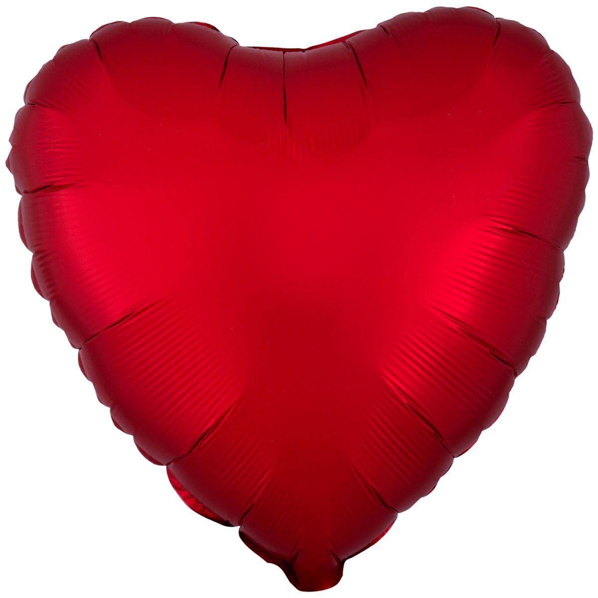 """А б/рис 18"""" серце сатин сангрія s15. Фольгований куля серце"""
