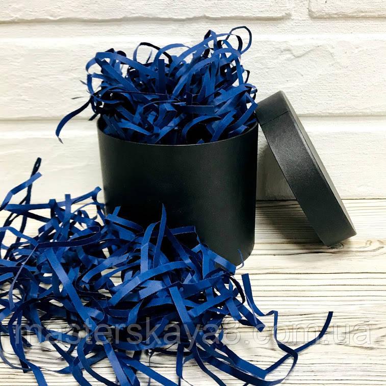 250 грамм Бумажная стружка для коробок 4мм Синяя