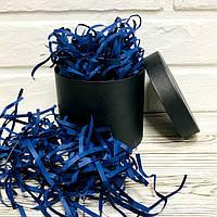 250 грамм Бумажная стружка для коробок 4мм Синяя, фото 1