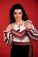 Женская вышитая блуза, размер 52