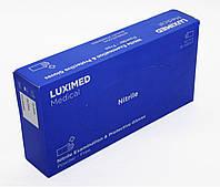 Перчатки медицинские Luximed Nitril M синие (50пар/уп)