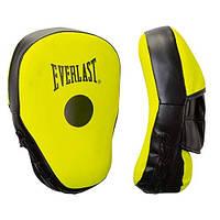Лапа вигнута Everlast DX жовто-чорна, пара