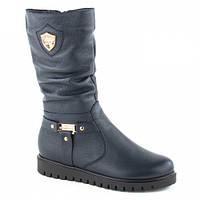 Женские зимние кожаные сапоги без каблука 36, 37, 41 р