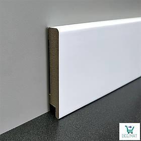 Білий плінтус підлоговий МДФ високий прямой16*100*2800мм.