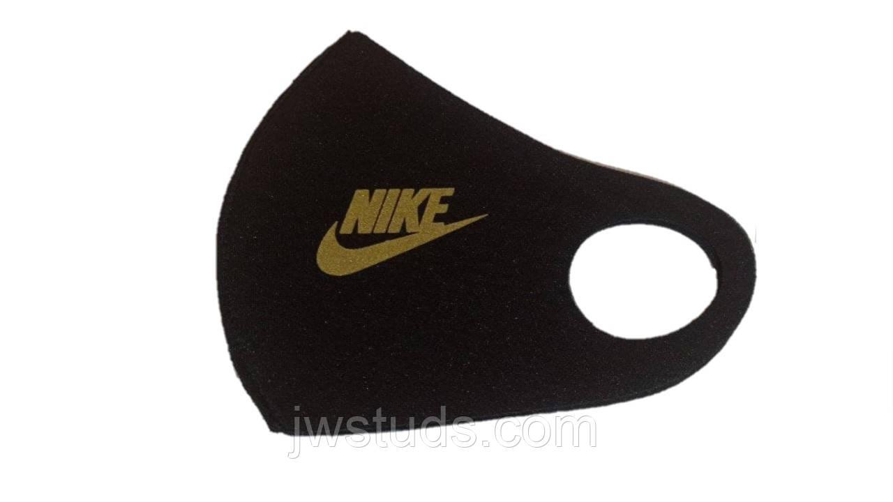 Маска піта багаторазова захисна чорна fashion mask