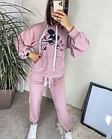 Женский спортивный прогулочный костюм 262 (42-44, 46-48, 50-52) (цвета: пудра, мокко, белый, фисташка) СП, фото 1