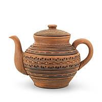 Чайник заварочный большой 1,7 л резка Орнамент