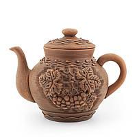 Чайник заварочный большой 1,7 л лепка Калина