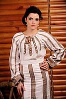 Женская вышиванка из льна, размер 54