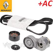 Комплект натяжитель + ролик + ремень генератора на Renault Trafic 1.9dCi +AC (2001-2006) Renault 117200713R