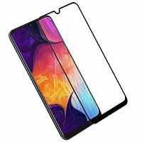 Захисне скло 5D Premium (Full Glue) Samsung Galaxy A50 (2019) Чорне