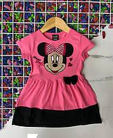 Плаття дитяче трикотажне MINNIE для дівчинки 3-7 років,колір малиновий