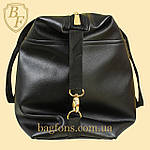 Женская дорожная сумка искусственная кожа розовая с блестками, фото 3