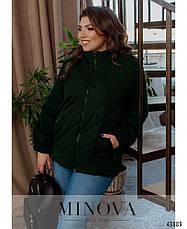 Куртка жіноча коротка, демісезонна розміри:50-68, фото 3