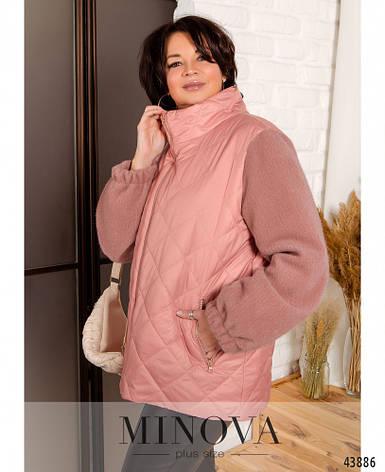 Куртка жіноча коротка, демісезонна розміри:50-68, фото 2